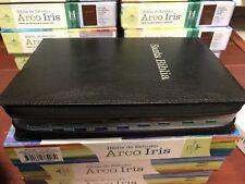 Bíblia  Arcos Iris Cierre Piel Fabbriada Negro Con Índice riena VAELERA 1960