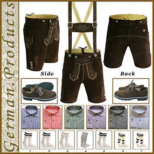German Bavarian Oktoberfest Trachten Package/set Lederhosen Shirt Shoes Socks