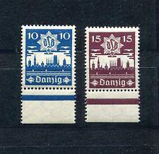 GERMANY DANZIG 1937 SCOTT 219-220 PERFECT MNH LOWER MARGIN AIR DEFENSE LEAGUE