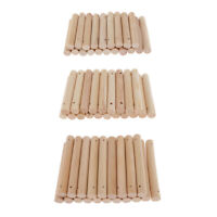 20 Stück DIY Handmade Wood Zylindrischer Holzstab Round Rod Crafts mit 2mm Loch
