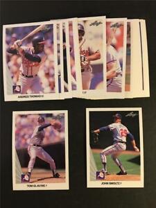 1990 Leaf Atlanta Braves Team Set 20 Cards