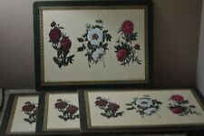 """NEW Set of 4 Pimpernel Paeonia BY Clara Pope Cork Back Placemats 16"""" x 12"""""""