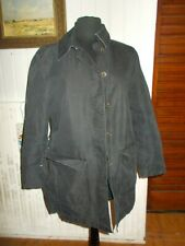 Veste manteau imperméable noir effet délavé BURBERRY Nina 40F 38D 46it ceinture
