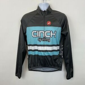 Castelli Cinch Cycling Jersey Mens Large long sleeved gray blue full zip