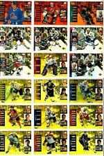 1994-95 MCDONALDS UPPER DECK HOCKEY COMPLETE 40 CARD 3D SET LOT Roy Jagr Bure BV