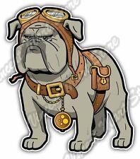 "Cool Steampunk Bulldog Dog Pet Goggles Watch Car Bumper Vinyl Sticker Decal 4.6"""