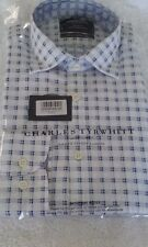 NEW Charles Tyrwhitt Men's White Blue Shirt - XS - Extra Small Chest 36""