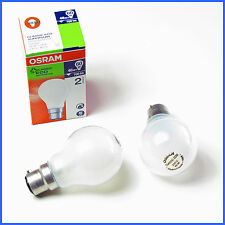 LOT OF 10   46 W = 60 W  FROSTED OSRAM Halogen Light Globes Bulbs bayonet  BC