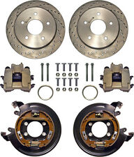 """CURRIE DISC BRAKE KIT,REAR PARKING,BIG FORD NEW,11"""" DRILLED ROTORS,5x5 1/2"""""""
