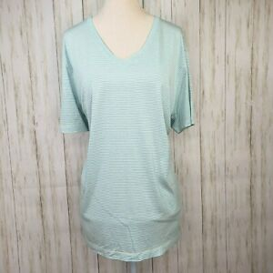 Red Saks Fifth Ave Silk Cotton Top Blouse Size Large Womens Ivory Turquoise