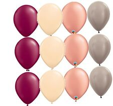 12 Balloons new Rose Gold wedding Blush party Burgundy shower Greige favors Prom