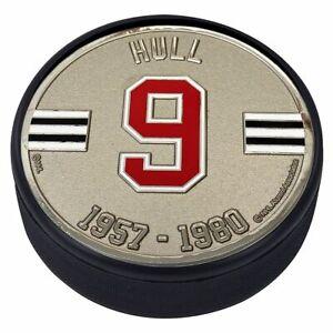 Bobby Hull Chicago Blackhawks 3D Textured Silver Plated Medallion Hockey Puck