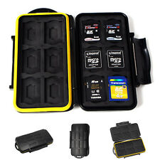 SD Memory Card Case Holder Water Resistant Storage Carrying Pouch Wallet Box New