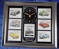 Classic citroen modèles superbe collector cartes horloge murale 2CV/DS/GS