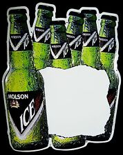 """Vintage 1990s Molson Ice Brand Beer Advertising 17""""t Tin Daily Special Menu Sign"""