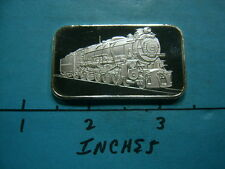 LOCOMOTIVE TRAIN OLD STYLE HISTORIC HORSESHOE CURVE 999 SILVER COIN BAR RARE