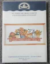 DMC cross stitch kit 16 count Yellow Flowers