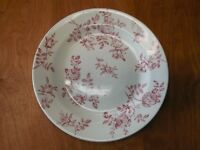 """Churchill England ANTIQUE ROSE PINK Dinner Plate 10 3/8"""" Rim 1 ea    1 available"""