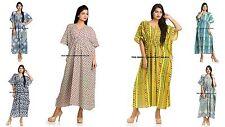 5 PC Wholesale Lot Casual Women Cotton Caftan Beach Dress Indian Kaftan Handmade