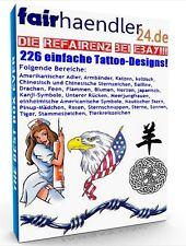 226 EINFACHE TATTOO DESIGNS eBook Tattoos Tätowierungsvorlagen Sparten E-Lizenz