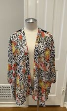 Daniel Rainn Anthropologie XS Sheer Cover Up Leopard Print And Floral