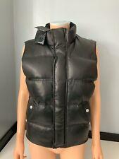 The Kooples NEW Black Leather Gilet Body Warmer Size Xs Uk 6-8 Bnwts €495
