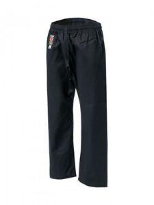 Kwon Baumwollhose, schwarz 8Oz.140-150cm.Karate, TKD, Wing Tsun, SV, Kick Pant