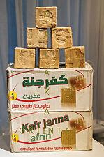 Original Alepposeife, Olivenöl/ Lorbeer 5 Stück. ca. 900 g. Natur KAFAR JANNA