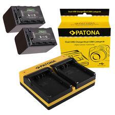 Batteria Premium Patona caricabatteria casa//auto per Panasonic VW-VBD58