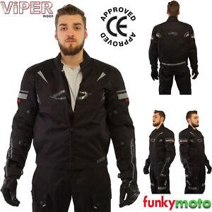 VIPER REFLEX CE ARMURE VESTE MOTO COURSES JAQUETTE THERMIQUE IMPERMEABLE  NOIR