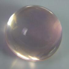 10mm ROUND CABOCHON-CUT NATURAL BRAZILIAN ROSE-QUARTZ GEMSTONE