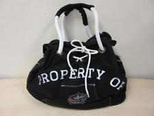 Nhl Columbus Blue Jackets Sport Noir Hoodie Tote Bag Purse Black New!