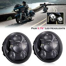 "2x 5.75"" 5-3/4"" LED Headlight For Harley Triumph Rocket iii3 Speed Triple Street"
