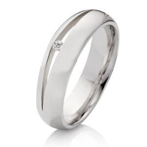 1 Verlobungsring aus 925 Silber mit echtem Diamant und Ringe Gravur SDB010