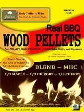 Bob Grillson USA**1/3 CHERRY 1/3 HICKORY 1/3 MAPLE Wood Pellets 100% Stated Wood