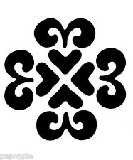 Stencil Damask Fancy Shape for Crafts, Signs, Walls, Borders, Fabric Tile, Wood