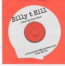(BE702) Billy T Hill, I Want My Truck Back - DJ CD