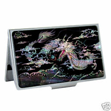 Mother of Pearl Metal Dragon Ball Design Business Credit Name Card Case Holder