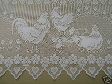 NEW CAFE WHITE LACE CURTAIN LENGTH COUNTRY HOME KITCHEN selling per mt