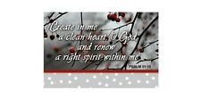 """Pack of 25 Christian Pass-It-On Cards, """"Create In Me A Clean Heart"""" Psalm 51:10"""