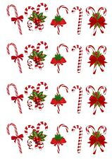 20 Stand Up Christmas Candy Canes Edible Wafer Paper Cake Toppers Decorations