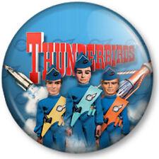 Thunderbirds 25mm Pin Button Badge Tracy Island International Rescue Title Logo