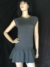 ISILY $237 Grey Wool Crochet Knit Sweater Dress (S/P) NWOT