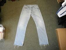 "Levi's 501 Straight Jeans Waist 34"" Leg 32"" Faded Medium Blue Mens Jeans"