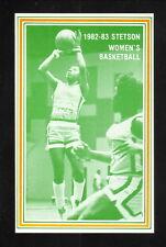 Stetson Hatters--1982-83 Basketball Pocket Schedule