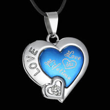 Stainless Steel Leather Love Hearts Costume Necklaces & Pendants