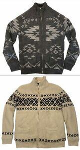 NWT AMERICAN EAGLE Cardigan Sweater LT Gray MT Beige Sherpa Full Zip #278674