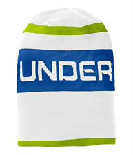 Under Armour Old School Jacquard Beanie Hat White Blue Green