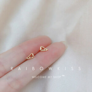 Fashion Gold Plated White Sapphire Stud Earring Women Party Wedding Jewelry Gift