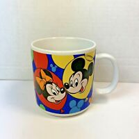 Vintage Mickey Mouse & Friends Mug Made In Korea | Minnie Pluto Goofy Donald